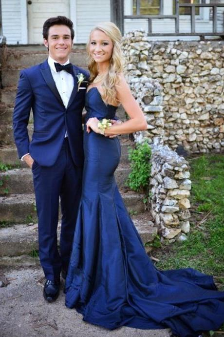 Strapless Prom Dress,Simple Prom Dresses,Long Evening Dress