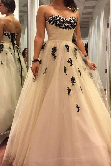 Charming Prom Dress,Sweetheart Prom Dress,Tulle Prom Dress,A-Line Prom Dress