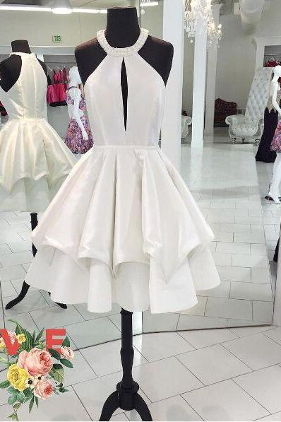 Graduation Dress,New Sleeveless Prom Dress,Real Photo Halter Prom Gown,Short Prom Dresses,High Quality Graduation Dresses,Wedding Guest Prom Gowns, Formal Occasion Dresses,Formal Dress