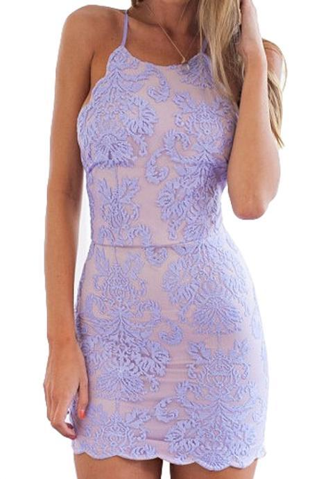 Charming Prom Dress,Lavender Prom Dress,Short Homecoming Dress,Lace Homecoming Dresses,Backless Party Dress For Teens