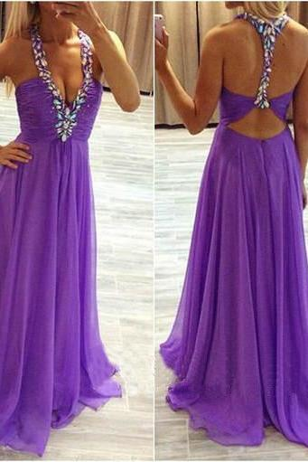High Quality Prom Dress,Charming Prom Dress,Chiffon Prom Dress,Brief Prom Dress,Backless Prom Dress