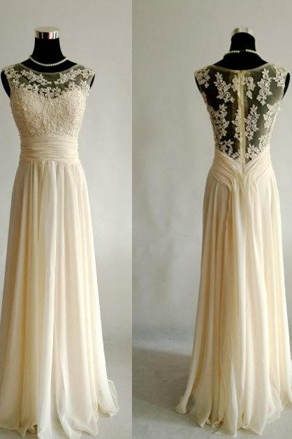 Charming Prom Dress,A-Line Prom Dresses,Chiffon Bridesmaid,Appliques Prom Dress