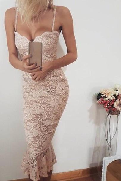 Spaghetti Prom Dress,Lace Prom Dress,Pencil Prom Dress,Fashion Homecoming Dress,Sexy Party Dress, New Style Evening Dress