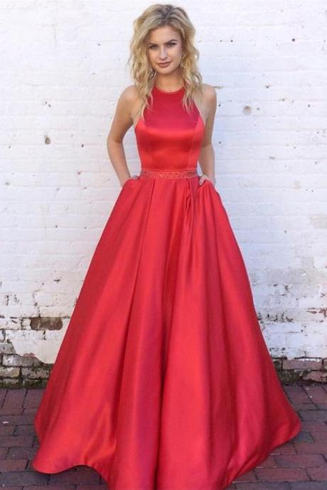 Red Prom Dresses,A Line Prom Dress,Fashion Prom Dress,Sexy Party Dress,Custom Made Evening Dress