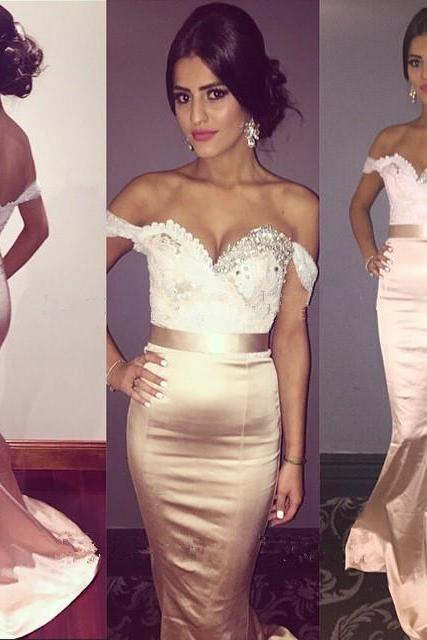 Prom Dresses,Pink Evening Gowns,Lace Formal Dresses,off the shoulder Prom Dresses,Fashion Evening Gown,Beautiful Evening Dress,Pink Formal Dress,lace Prom Gowns