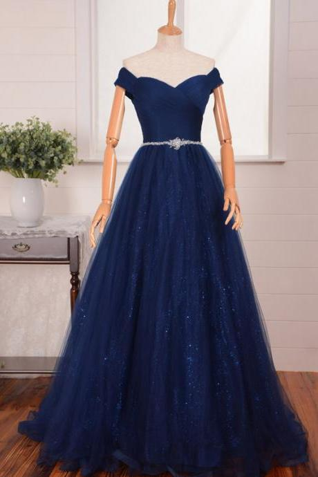 Charming Prom Dress,Off Shoulder Prom Dresses,Long Evening Dress,Formal Dress