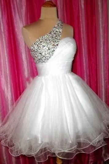 One Shoulder Homecoming Dress,Homecoming Dresses,Sweet 16 Dress, Homecoming Gowns