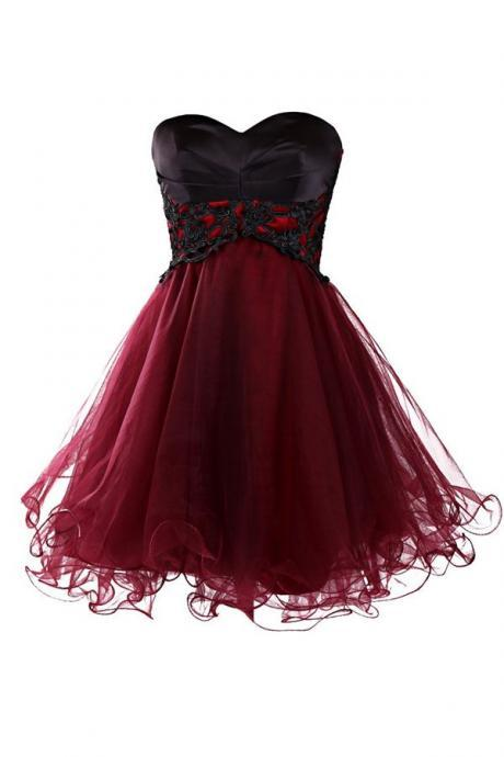 Tulle Homecoming Dress,Lace Homecoming Dress,Cute Homecoming Dress,Fitted Homecoming Dress,Short Prom Dress,Black Homecoming Gowns,Sweet 16 Dress,