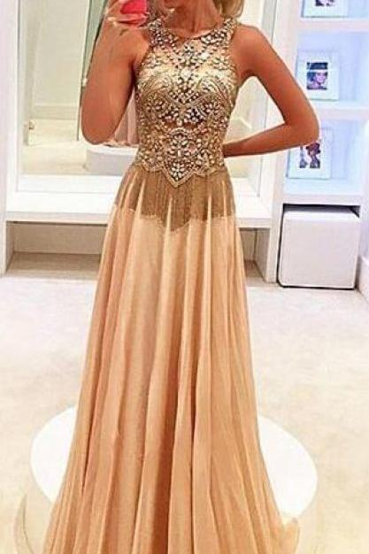 Champagne Prom Dresses,Charming Evening Dress,Champagne Prom Gowns,Champagne Prom Dresses,New Prom Gowns,Champagne Evening Gown,Backless Party Dresses