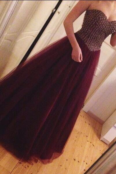 Wine Red Prom Dresses,Charming Evening Dress,Burgundy Prom Gowns,Prom Dresses,New Prom Gowns,Evening Gown,Simple Party Dresses