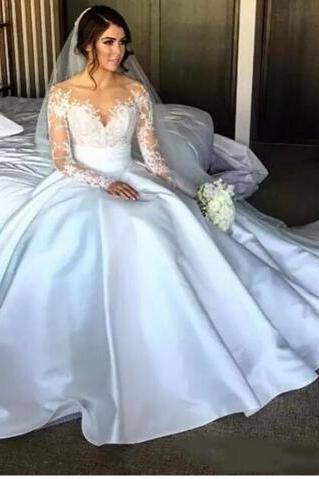new fish tail lace wedding dress, detachable skirt pure long sleeve wedding dresses, long sleeve shirt high heels bridal wedding