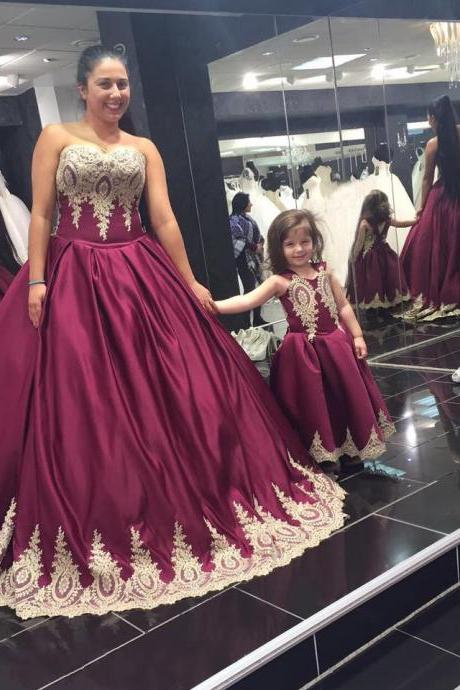 New Arrival Prom Dress,Modest Prom Dress,burgundy wedding dress,wine red ball gowns,gold lace bridal dress,elegant wedding dress