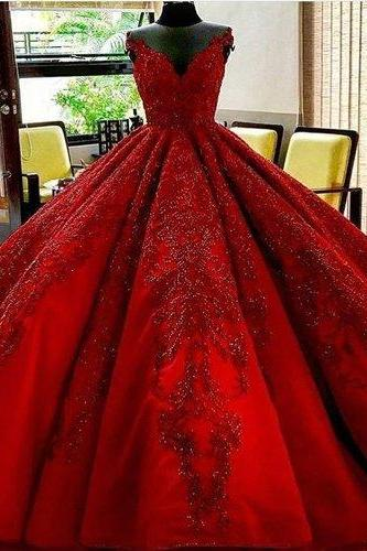 Long burgundy Wedding Dress,Floor Length Wedding Dresses,ball gown Bridal dresses, Evening Dresses, Glamorous Prom Dress,burgundy Graduaction Dresses