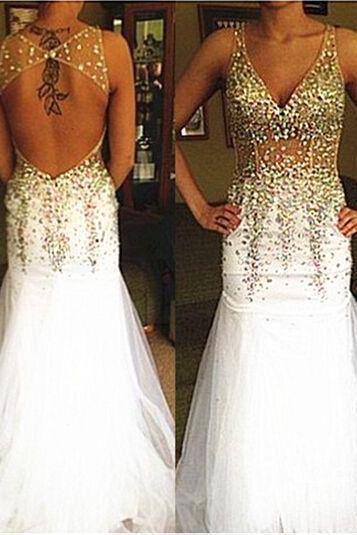Fashion Prom Dress, Deep-V Prom Dresses, Evening Party Gown, Formal Wear, opne back prom dresses,Evening Dress, Prom Gowns, Formal Women Dress,prom dress