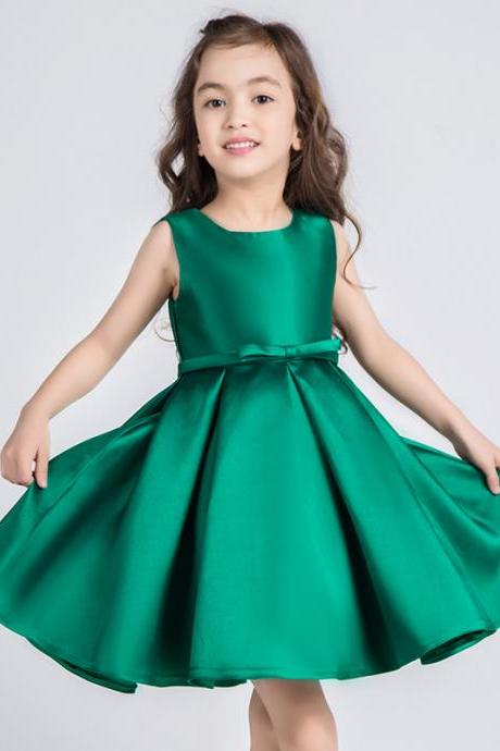 Emerald Green Girl Pageant Dress
