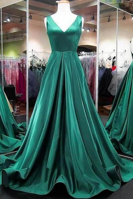 V Neck Prom Dress,evening dress