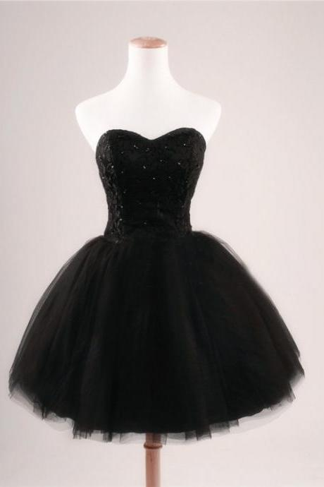 Homecoming Dresses,Short Homecoming Dresses,Black Homecoming Dresses,Short Prom Dresses,Tulle Homecoming Dresses,Mini Prom Dresses,Black Party Dresses