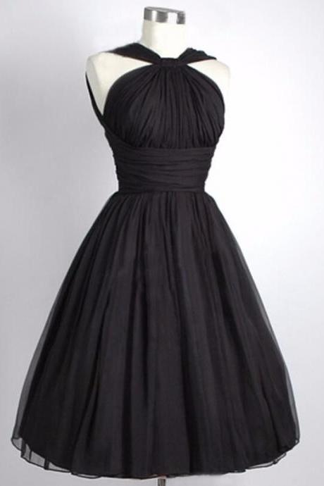 Spaghetti Straps Homecoming Dresses,Black Strapless Short Gowns --Mini Dresses,Short Party Dresses